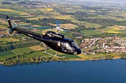 Landschaft Hubschrauberflug Salzburg