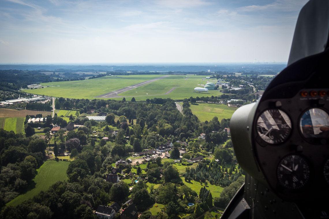 Hubschrauberflug Essen Mülheim