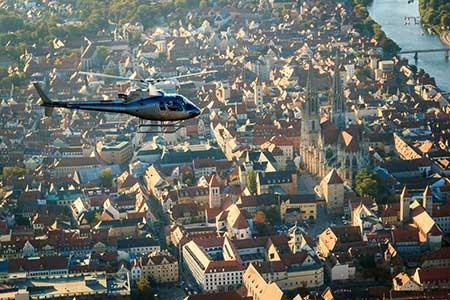 Hubschrauberrundflug Regensburg