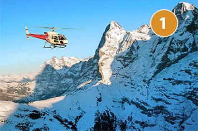 Helikopterrundflug Eiger Route1