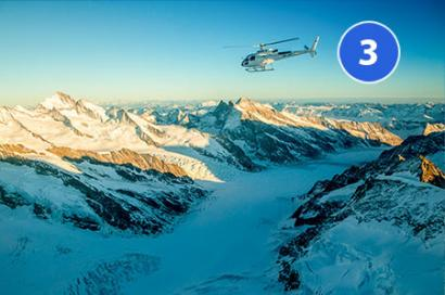 Helikopterrundflug Aletschgletscher