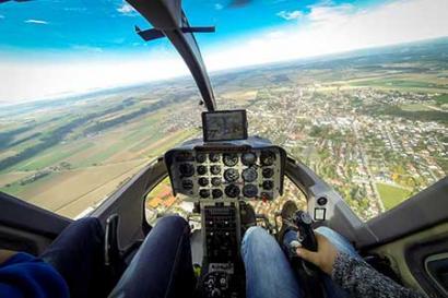 Hubschrauberflug selber fliegen Augsburg