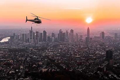 Hubschrauber Frankfurt Skyline