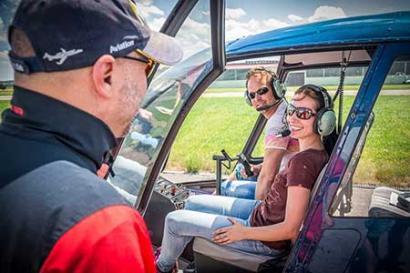 Aktion Hubschrauberflug Linz