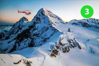 Jungfraujoch Helikopterflug Gsteigwiler