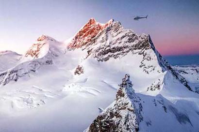Jungfraujoch helicopterflight