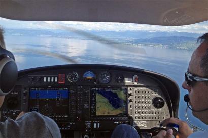 Cockpit selber fliegen Flugzeug