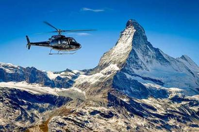 Helicopter Jungfraujoch and Matterhorn