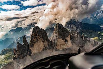 Drei Zinnen Tirol Hubschrauberflug
