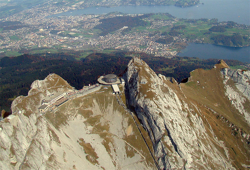 Pilatus Hubschrauberflug Luzern Beromünster