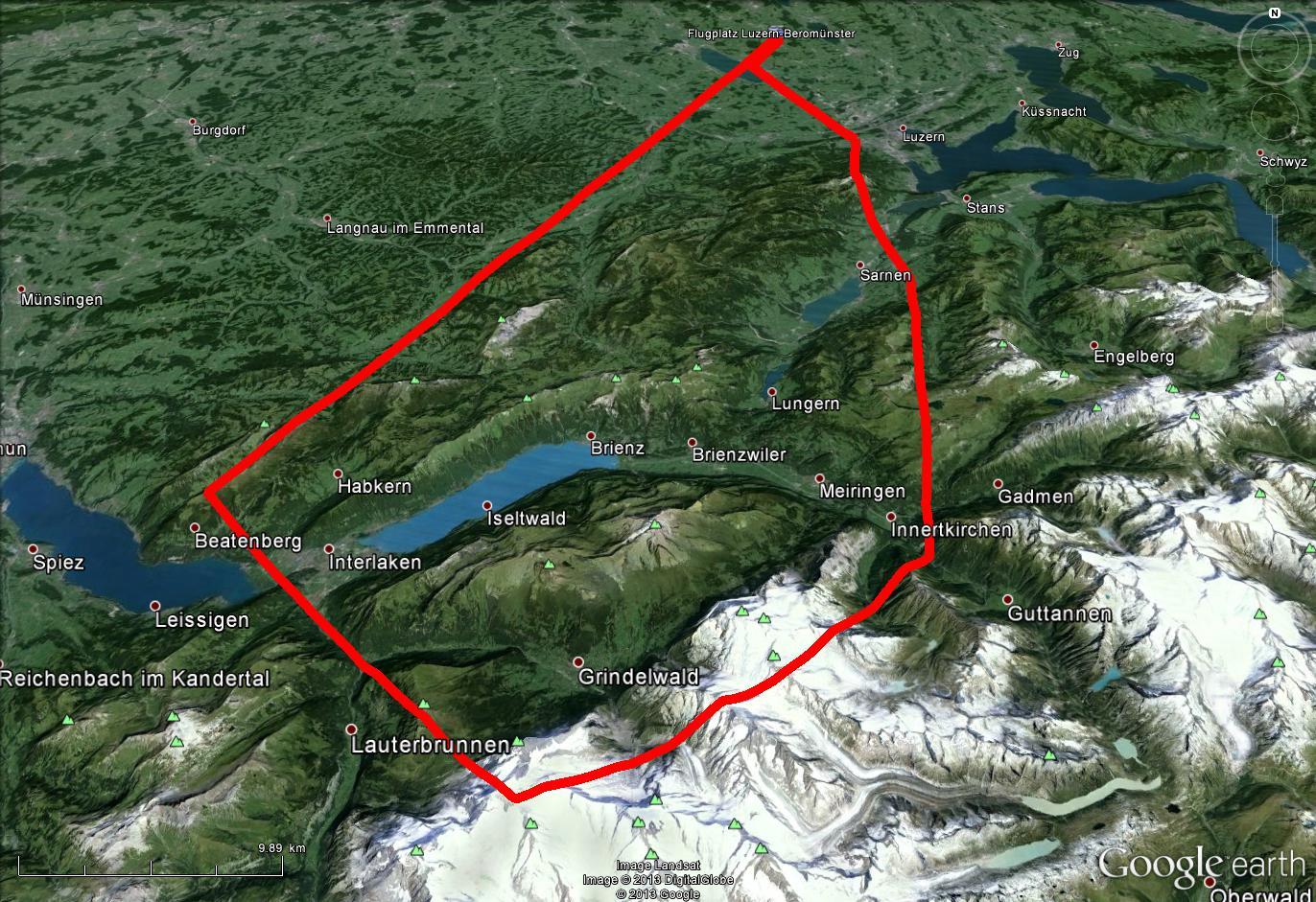 Jungfraujoch Route ab Beromünster