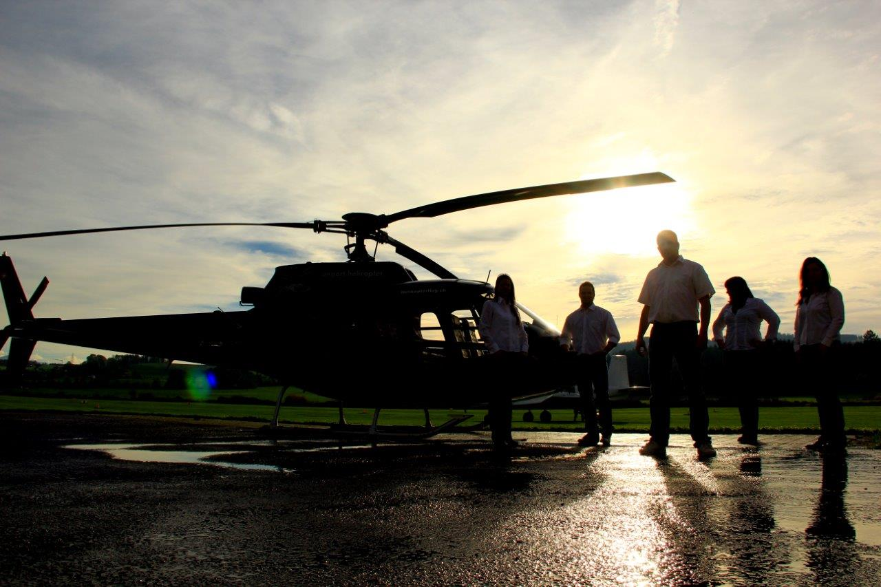 Hubschrauberflug Team