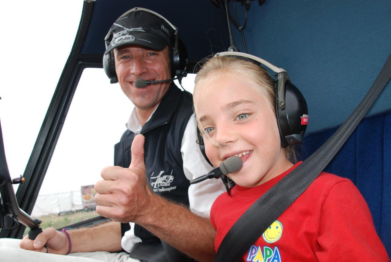Hubschrauberflug Kinder