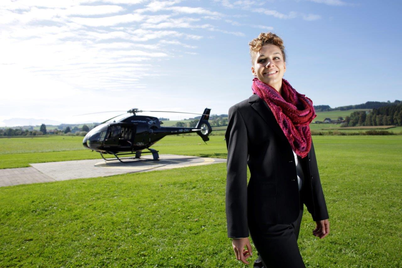 Hubschrauber Rundflug Landung Burg Plankenstein