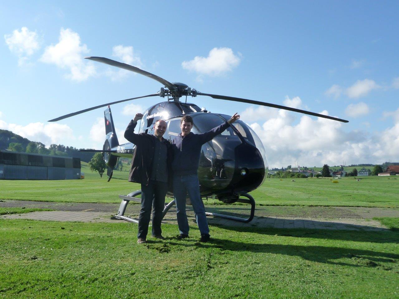 Hubschrauber Rundflug Kilb Rametzberg Fluggäste