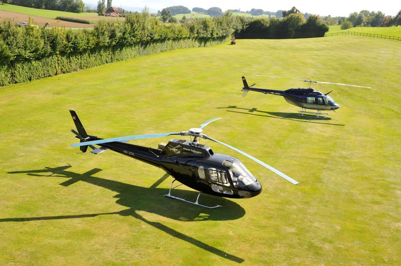 Hubschrauber Rundflug Aussenlandung