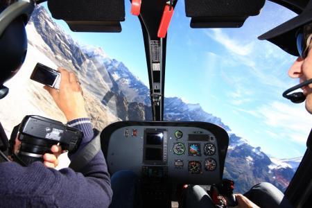 Hubschrauber Rundlug Cockpit