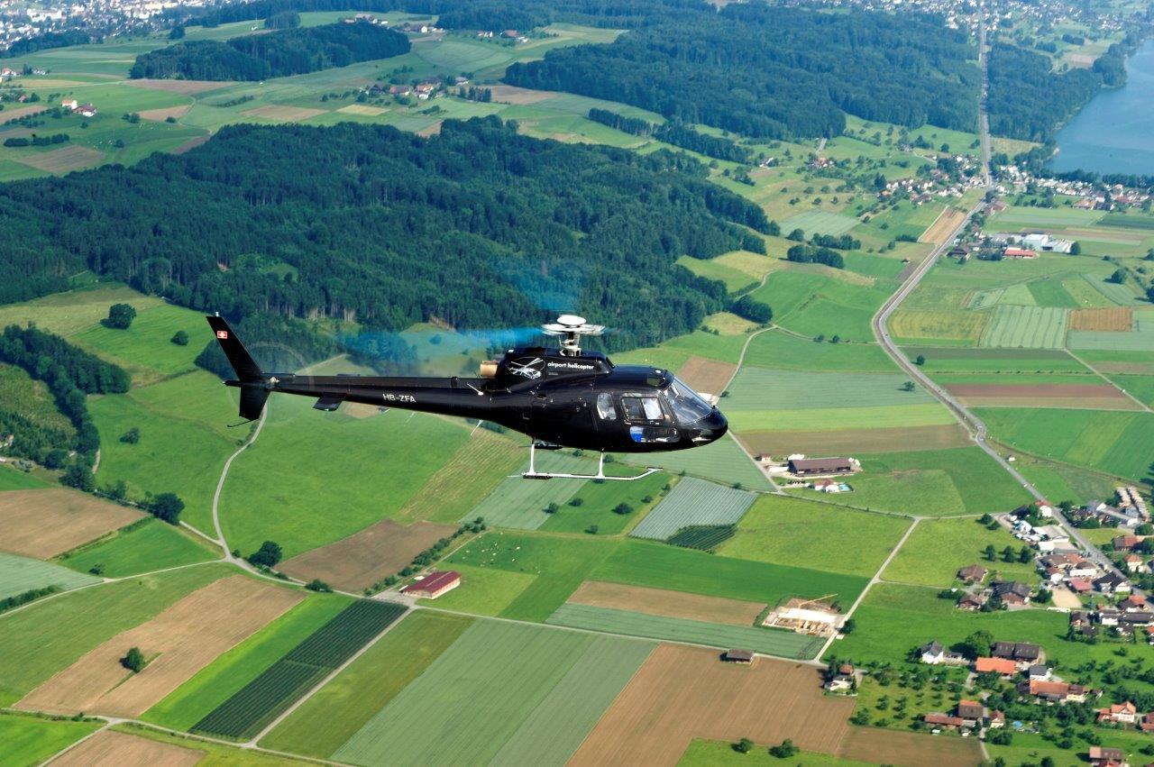 Hubschrauber Rundlug Landschaft Ecureuil