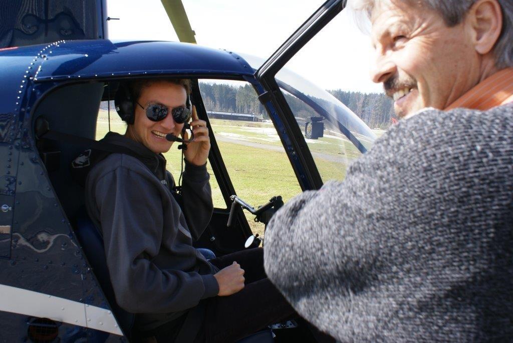 Fluggast und Pilot