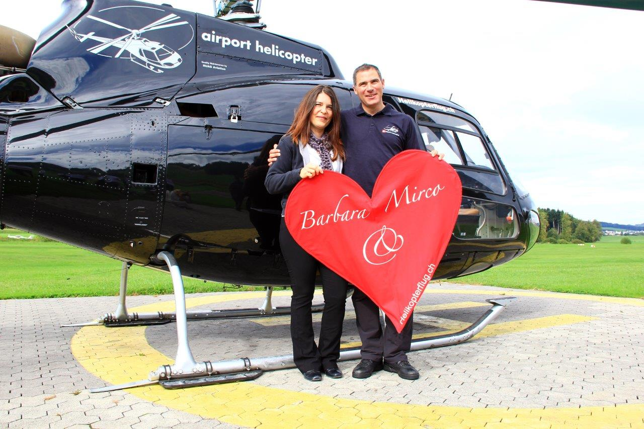 Helikopterflug Heiratsantrag