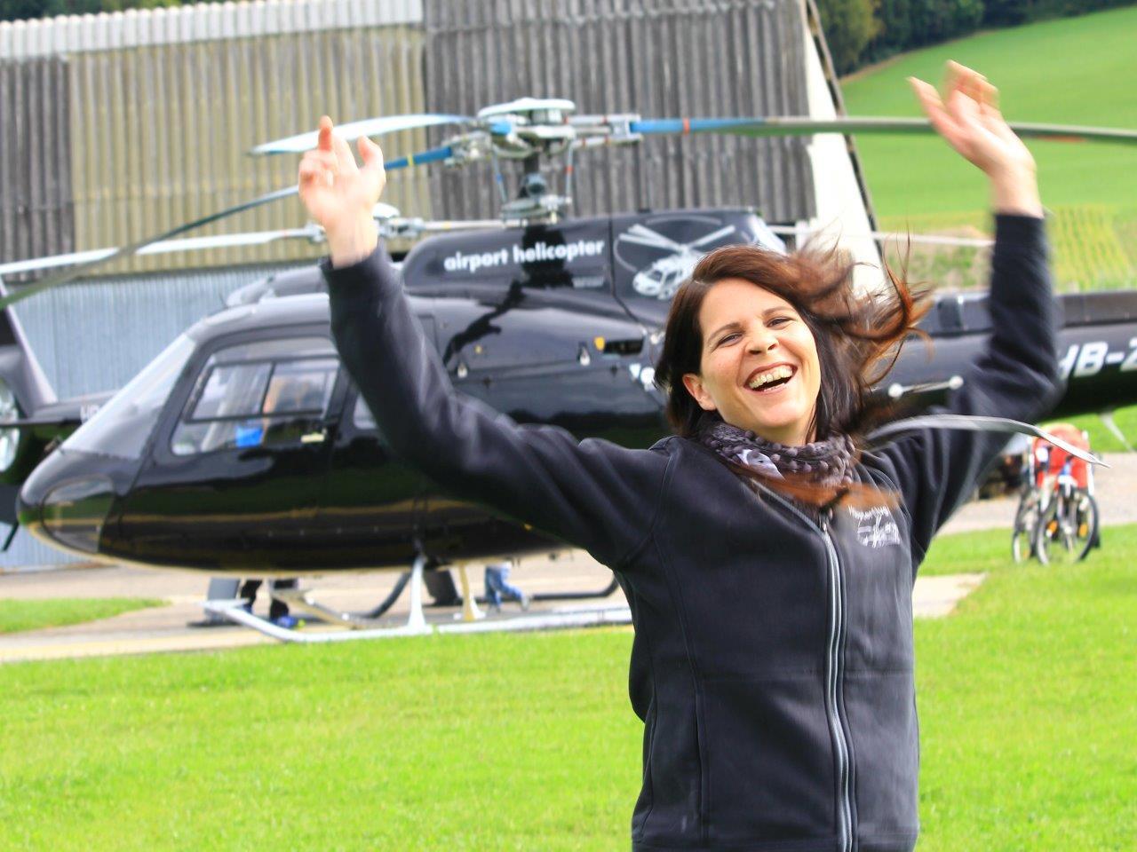 Hubschrauber selber fliegen Freude