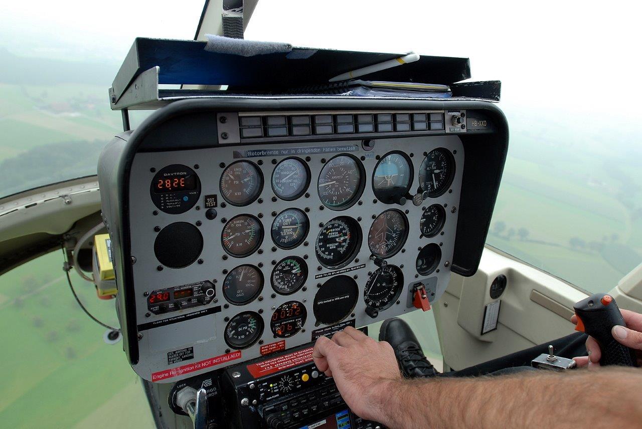Hubschrauber selber fliegen Instrumente