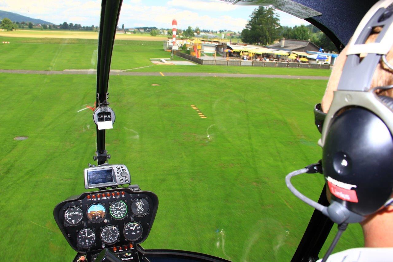 Hubschrauber selber fliegen Landung,