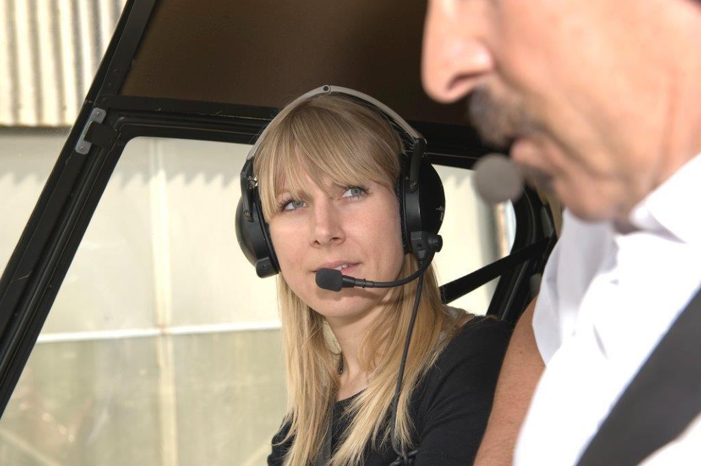 Einweisung am Helikopter