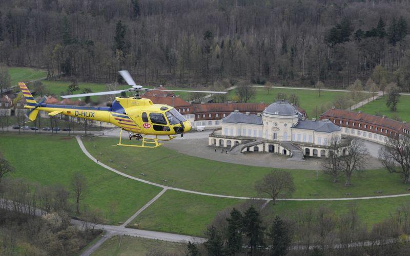 Rundflug über Schloss Solitude