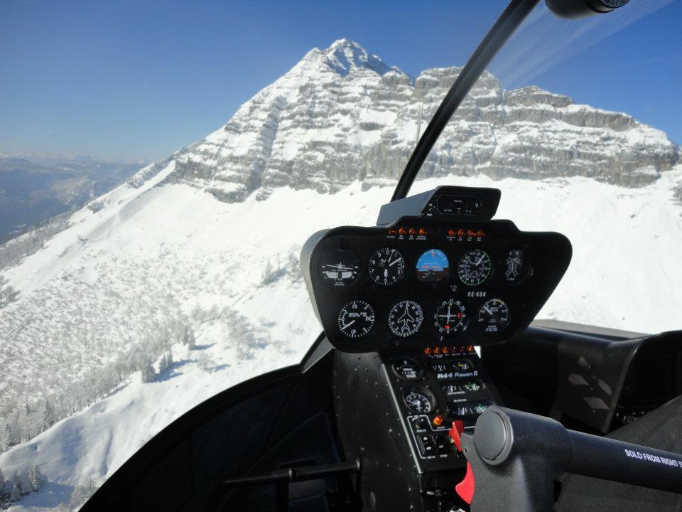 Hubschrauberflug Berg