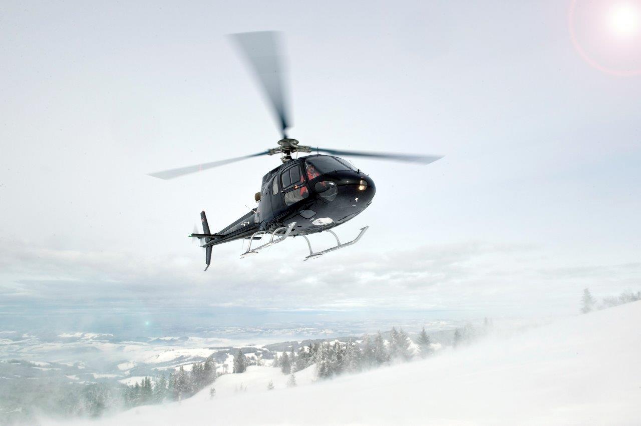 Hubschrauberflug Ludesch Gletscher