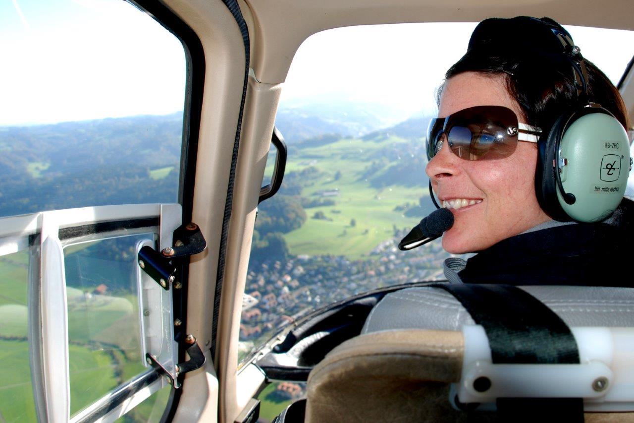 Fluggast Helikopter selber fliegen