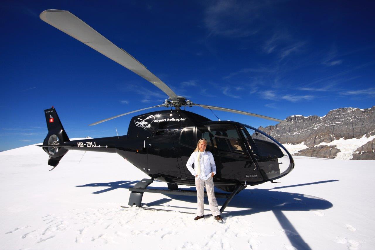Gletscherlandung St. Moritz
