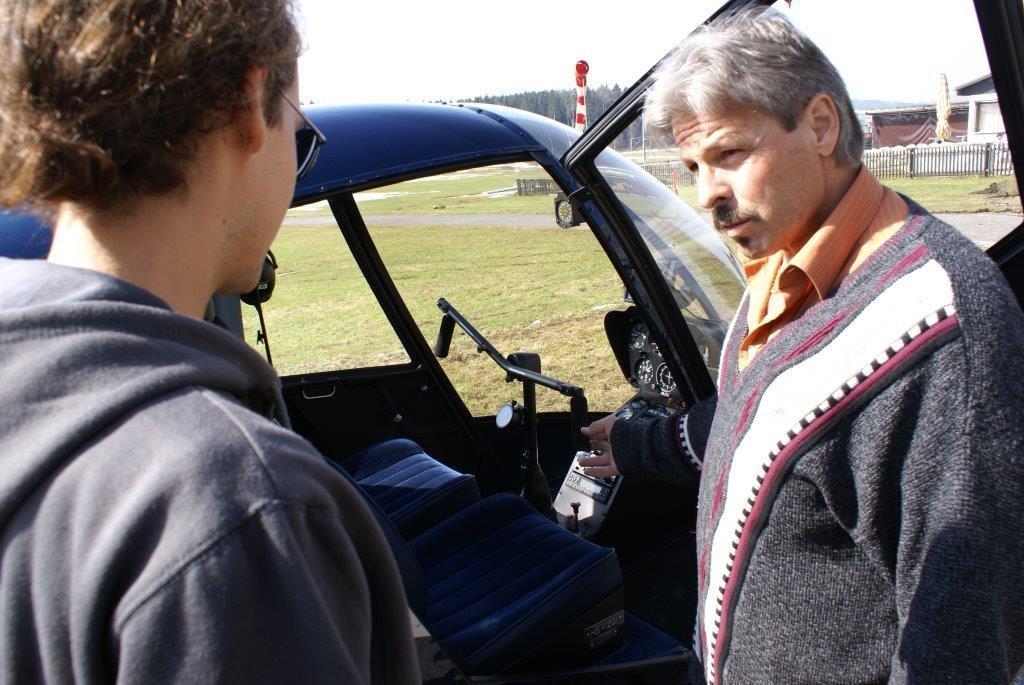 Hubschrauber selber fliegen Instruktion
