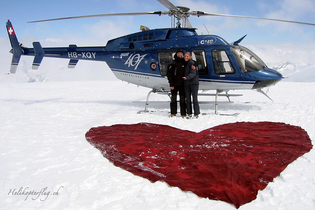 Heiratsantrag mit Herz Lauterbrunnen