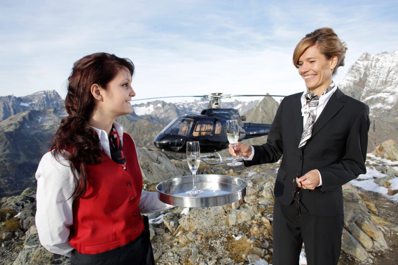 Geschäftsflug auf Gletscher Lauterbrunnen