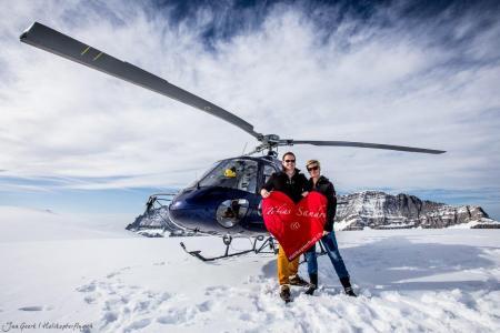 Gletscherlandung Heiratsantrag