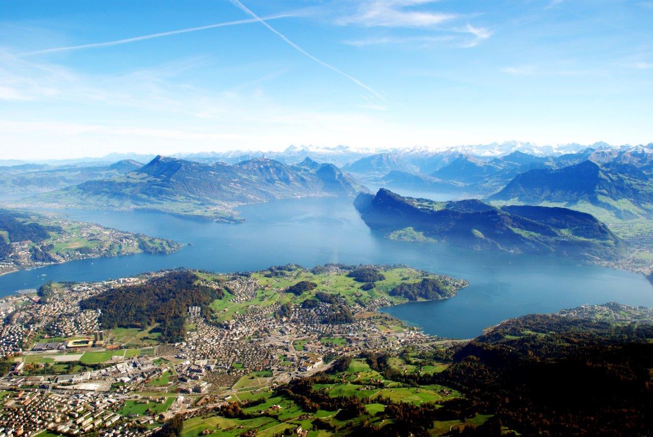 Landschaft Hubschrauberflug